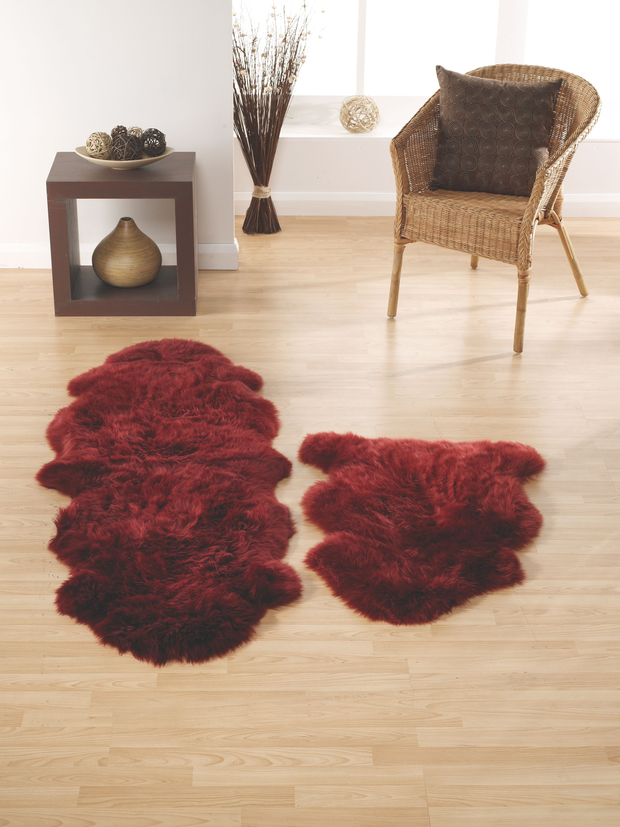 Origin Rugs Sheepskin berry single