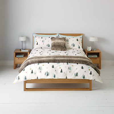 John Lewis Winter Ski Scene Duvet Cover and Pillowcase Set